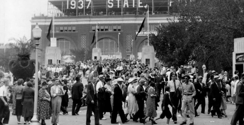 Grandstand Ramp at 1937 State Fair