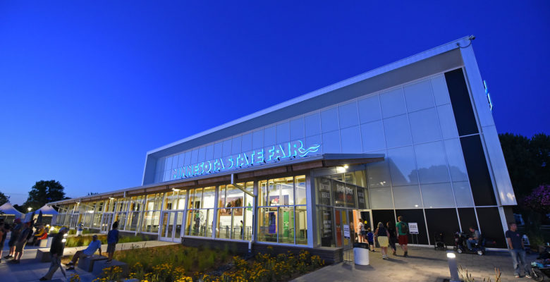 North End Event Center at night