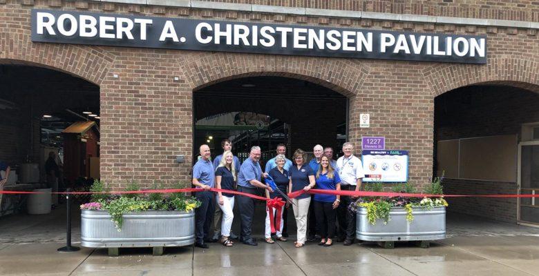 Robert A Christensen Pavilion ribbon cutting ceremony