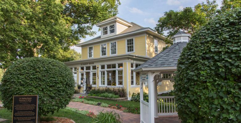 J.V. Bailey House and gazebo